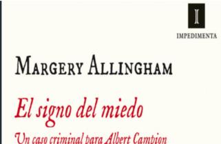 El signo del miedo de Margery Allingham