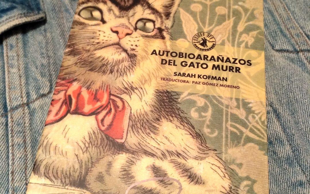 Autobioarañazos del gato Murr, de Sarah Kofman